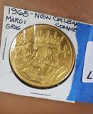 1968 New Orleans Commemorative Mardi Gras Coin