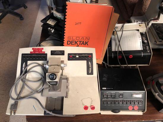 Sloan Dektak FLM with documents 900050