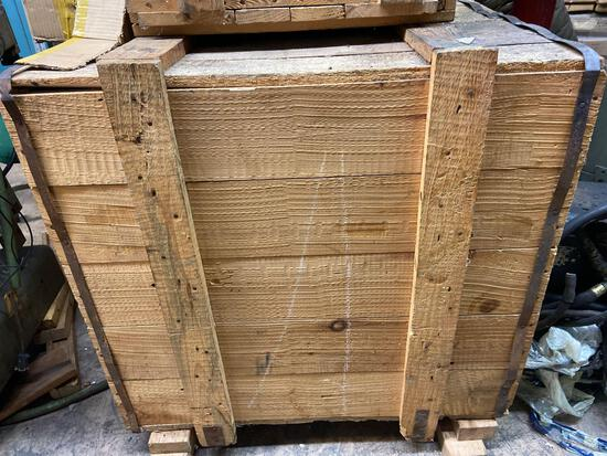 Large crate of magnets forklift on site. rm2