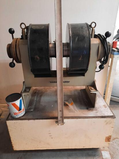 Homemade Lathe with parts from Varian Associates Instrument Division rm3
