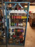 Wood Shelf Full of Wire Spools