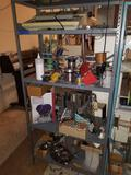 Metal Shelf Full with Contents