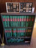 Metal Shelf Full of Books 2000 Thomas Register Room 5