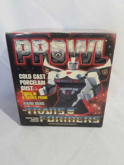 2002 Transformers Prowl Cold Cast Porcelain Bust