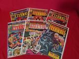 Vintage Marvel The Eternals Comic Books 6 Units