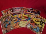 Vintage DC Superman Comic Books 8 Units