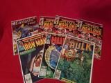 Vintage Marvel Comic Books Hulk Ironman 7 Units