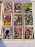 1990 Marvel Comic Cards in Pages