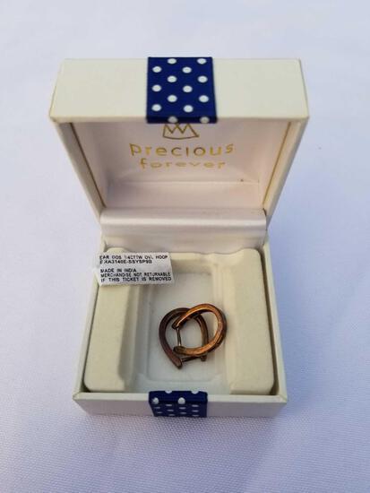 1/4 Carat Diamond Oval Hoop Earrings