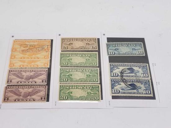 1930-1936 US Postage Stamps Air Mail 12 Units