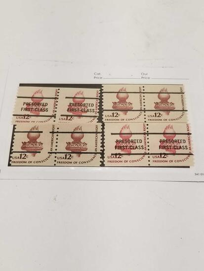 Vintage First Class Postage Stamps 12 Cents 8 Units