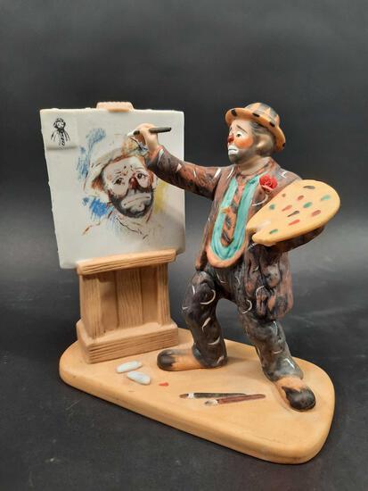 Flambro Emmet Kelly Jr. Collectible L.E. Clown Painter