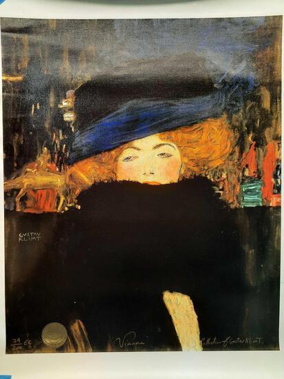 Signed & Numbered Limited Edition Lithograph, Gustav Klimt, 'Vianna' 74/200