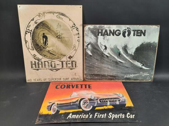 Corvette, Hang Ten Metal Wall Posters