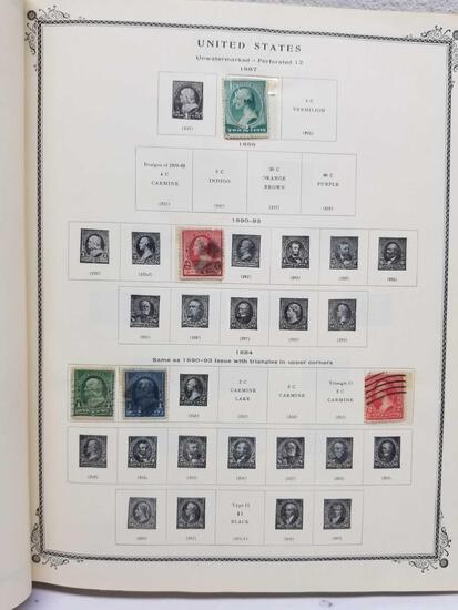 US Stamp Book 1873-1957 Stamps