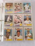Binder Full of 1985 Topps Baseball Cards in Pages