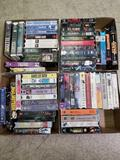 Box Full of VHS Movie Tapes 4 Units