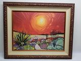 Armand Vallee Gee Clee Art Framed