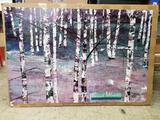 Fred Crostic Birch Woods Litho 100 Units