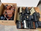 Boxes of Cameras And camera holsters