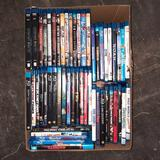 Box of DVDs Blueray