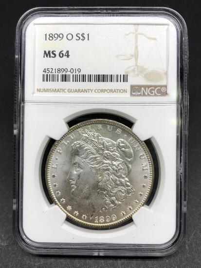 1899-O Morgan Silver Dollar Slabbed MS-64