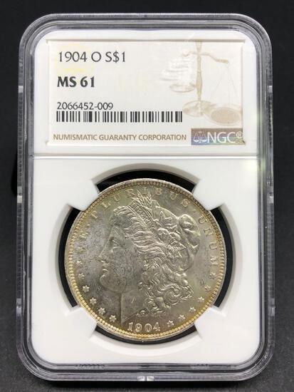 1904-O Morgan Silver Dollar Slabbed MS-61