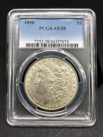 1898 Morgan Silver Dollar Slabbed AU-58