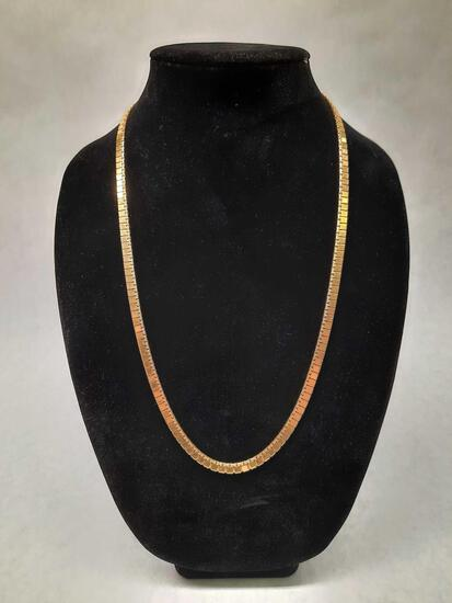 Monet Gold Necklace 41.47 grams tested 18k Gold