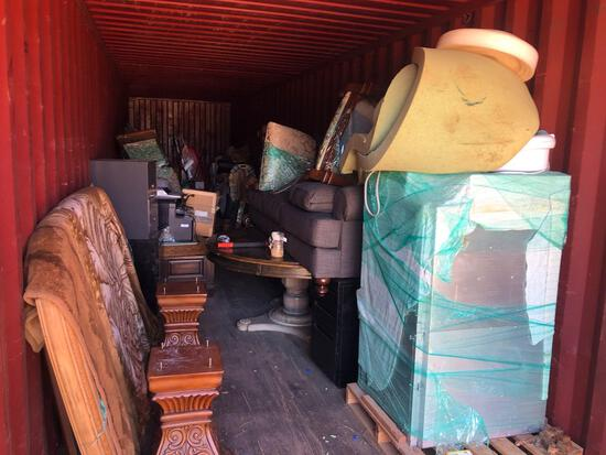 Container Contents - High End Furniture, Chairs, More