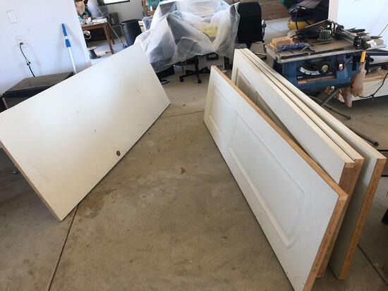 Doors 5 units slabs unframed
