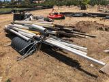 Wood, PVC Piping, Metal Pipe