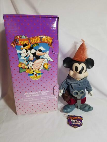 Disney Mickey Musical Porcelain Doll in Box
