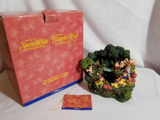 Disney Snow White Fountain Statue in Box