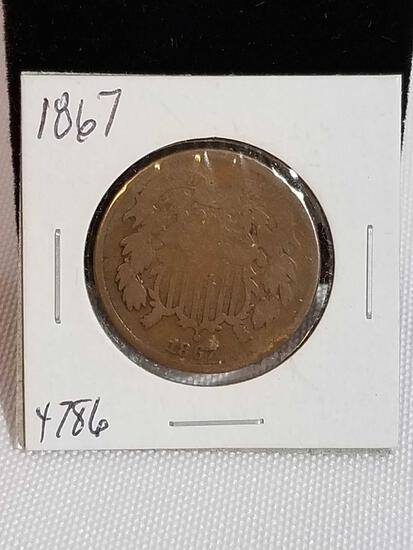 1867 2 Cent Piece Coin