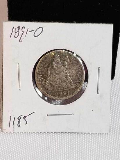 1891-O Seated Liberty Dime