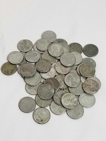 Roll of 1943 Steel Pennies 50 Total