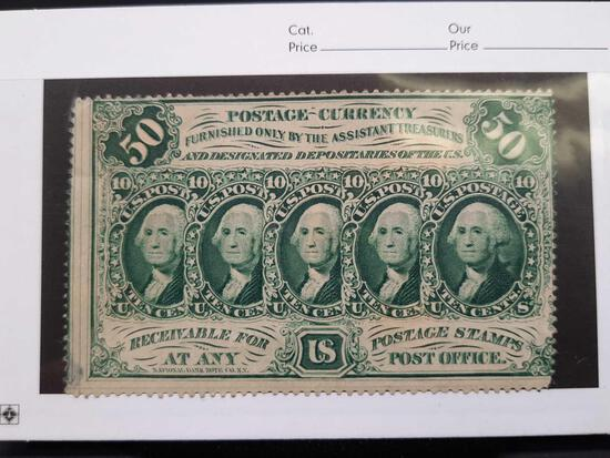 1862-1876 Postage Currency 5 Dollar Stamp
