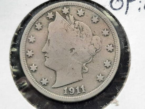 1911 Liberty Nickel Original Beauty Better Grade Part Liberty VF+