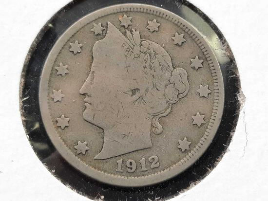 1912 Liberty Nickel Original Beauty Better Grade Part Liberty VF