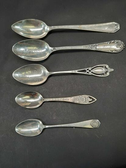 Antique Sterling Spoon Collection 81.2 grams
