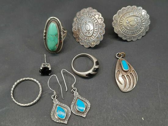 Antique Sterling Native American Jewelry