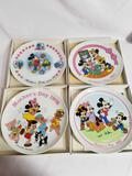 Disney 1974 1976 1980 1982 Mothers Day Plate 4 Units