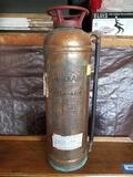 Vintage Copper General Quick Aid Fire Extinguisher