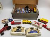 Box Full of Vintage Cars Tractors Hot Wheels