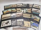 Vintage Postcard Collection Planes Trains Boats