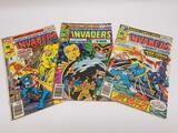 Vintage The Invaders Comic Books 3 Units