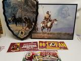 Native American Art Redskins Football License Plates 5 Units