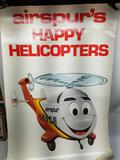 Vintage Airspur Happy Helicopter Champ Poster 2 Units