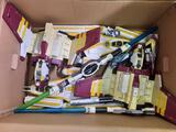 Box of Starwars Toys sabers and transporters